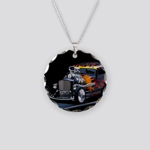 Hot Rod Necklace Circle Charm