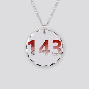 143 Necklace Circle Charm