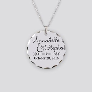 Couples Names Wedding Personalized Necklace