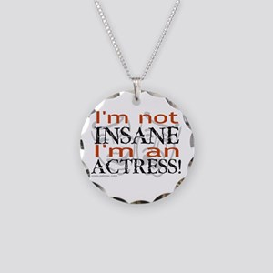 Insane actress Necklace Circle Charm