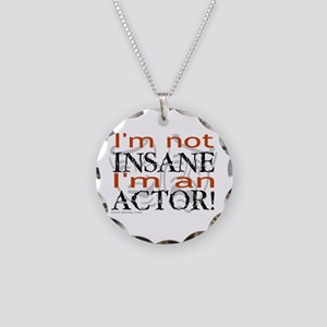 Insane Actor Necklace Circle Charm