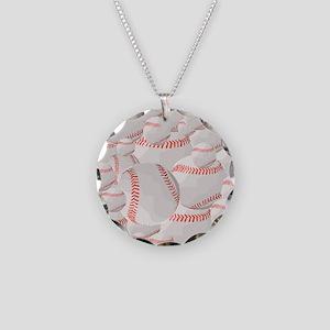 Baseball pile Necklace Circle Charm