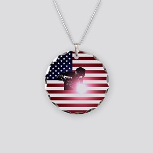 Welding: Welder & American Flag Necklace