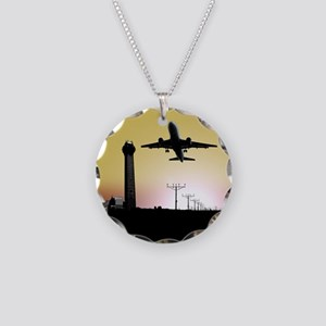 ATC: Air Traffic Control Tower & Plane Necklace