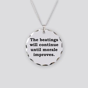 The Beatings Will Continue - Anonymous Necklace Ci