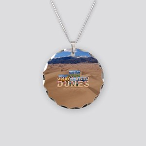 Great Sand Dunes Necklace Circle Charm