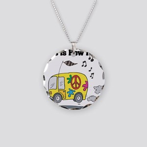 How I Roll (Hippie Bus/Van) Necklace Circle Charm