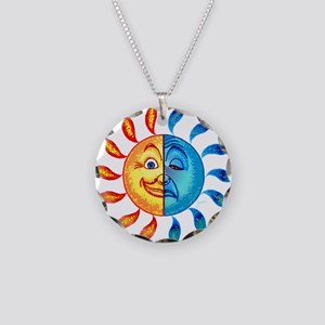 BiPolar Solar Necklace Circle Charm