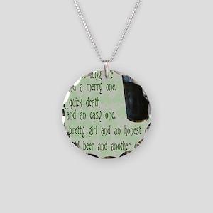 IrishToast Necklace Circle Charm