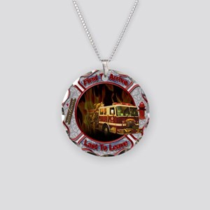 FireFighter Necklace Circle Charm