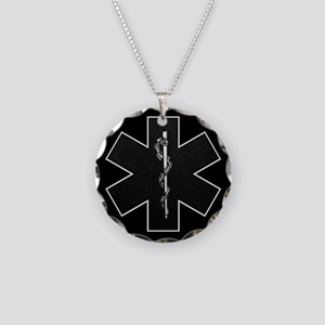 Star of Life(BW) Necklace Circle Charm