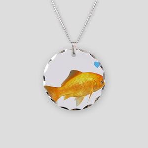 GOLDFISH Necklace Circle Charm
