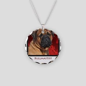 Bullmastiff Necklace Circle Charm