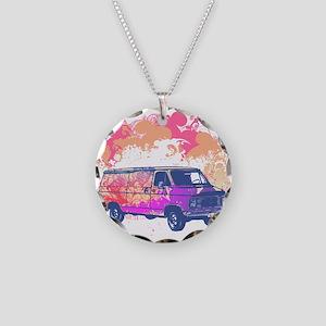 Retro Hippie Van Grunge Style Necklace Circle Char