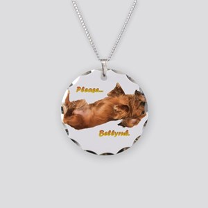 Bellyrub Doxie Necklace Circle Charm