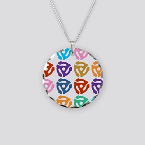 45 RPM Record Adapter Pop Art Necklace Circle