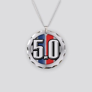 5.0 50 RWB Necklace Circle Charm