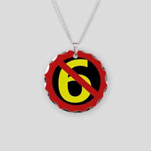 Anti Sixers Necklace Circle Charm