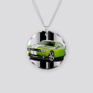 New Challenger Green Necklace Circle Charm