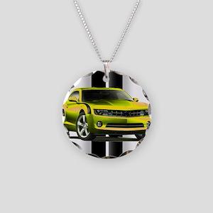 New Camaro Yellow Necklace Circle Charm