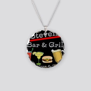 Personalized Bar and Grill Necklace Circle Charm