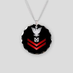 Navy PO2 Boatswain's Mate Necklace Circle Charm
