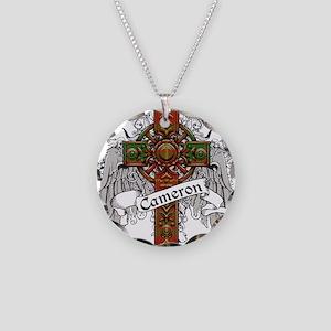Cameron Tartan Cross Necklace Circle Charm