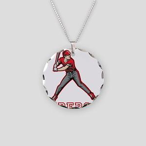 Personalized Baseball Necklace Circle Charm
