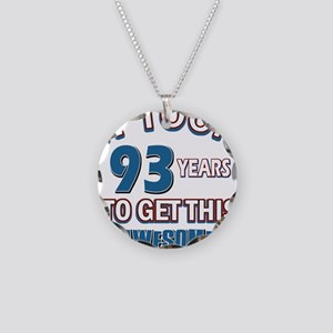 Awesome 93 year old birthday design Necklace Circl