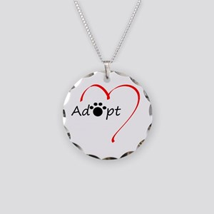 Adopt Necklace Circle Charm
