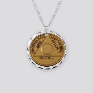 Alcoholics Anonymous Anniversary Chip Necklace