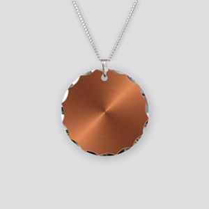 Copper Necklace Circle Charm