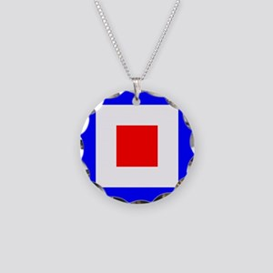 Nautical Flag Code Whiskey Necklace