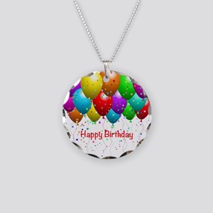 Happy Birthday Balloons Necklace