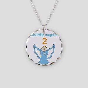 little angel custom age Necklace Circle Charm