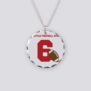 Football Star Custom Age Necklace Circle Charm