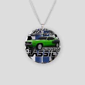 Classic Musclecar Necklace Circle Charm