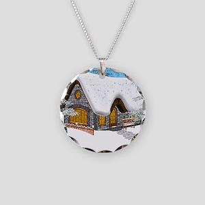 Winter Cottage Necklace