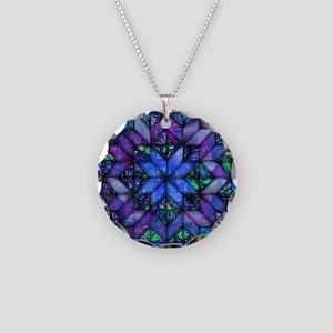 Blue Quilt Necklace