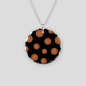 Basketball pattern Necklace Circle Charm