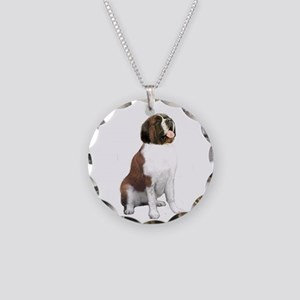 St Bernard #1 Necklace Circle Charm