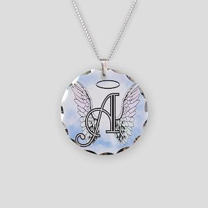 Letter A Monogram Necklace