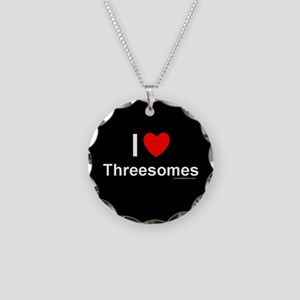 Threesomes Necklace Circle Charm