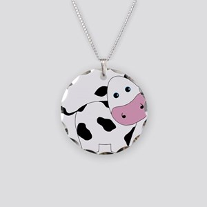 Cute Black and White Cow Necklace