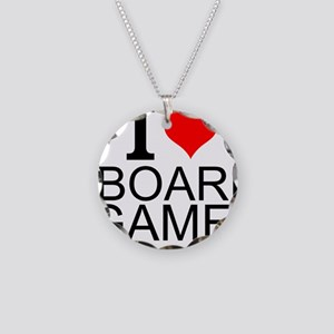 I Love Board Games Necklace