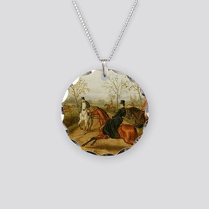 Riding Sidesaddle to the Hun Necklace Circle Charm