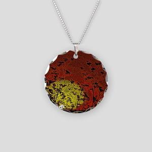 Bloody Sunrise Necklace Circle Charm