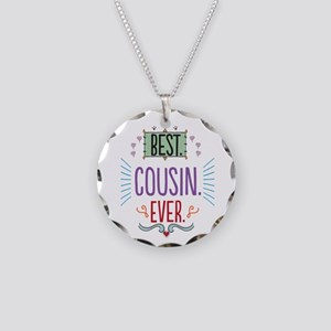 Cousin Necklace Circle Charm