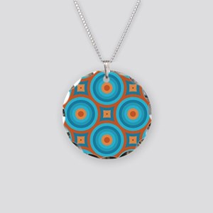 Orange and Blue Mid Century Modern Necklace