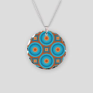 Orange and Blue Mid Century Modern Necklace